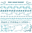 Set of hand drawn design elements vector image