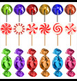 set of lollipops vector image vector image