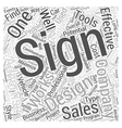 Signs Word Cloud Concept vector image vector image