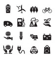 silhouette save the world icons set vector image vector image