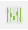 simple green icon - mixing console equalizer vector image