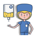 specialist doctor with element transfusion vector image