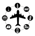 tourism design vector image