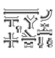 tubes and pipes plumbing and building materials vector image vector image