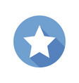white star on blue circle isolated clean f vector image vector image