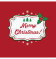 winter label with text merry christmas vector image vector image