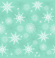 winter seamless pattern with white snowflakes vector image vector image