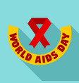 world aids day logo set flat style vector image vector image