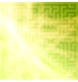 Yellow-green background with maze vector image vector image