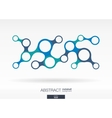 Abstract background with integrated metaballs vector image