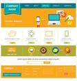 business website template flat design vector image