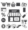 Shopping icons set eps 10 vector image