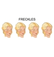 a face with freckles young women vector image vector image