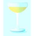 A Glass of Bubbly Background vector image vector image