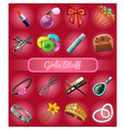 a set of accessories for young girl or bride vector image vector image