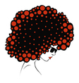 abstract Color round hair vector image vector image