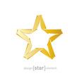 Abstract golden star on white background vector image vector image