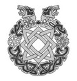 ancient slavic ornament symbols slavic gods vector image