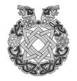 ancient slavic ornament symbols slavic gods vector image vector image