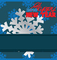 background composed of winter snowflakes vector image vector image