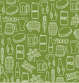background pattern with beer icons vector image vector image