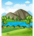 background scene with mountains and lake vector image vector image