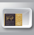bison abstract plastic tray container cover vector image vector image