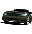 black car sedan on the road vector image