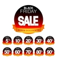 Black Friday Sale Stickers vector image vector image