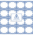 blue and white vintage ornamental pattern vector image vector image