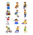 boy activities vector image vector image