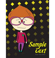 boy announcement card vector image vector image