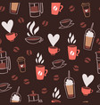 coffee time cafe hot drinks dessert expresso and vector image vector image