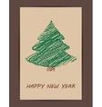 Creative Christmas tree card vector image vector image