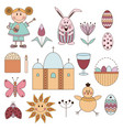 cute elements for easter holiday vector image