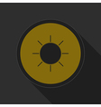 dark gray and yellow icon - sunny vector image vector image