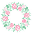 decorative floral wreath with roses vector image vector image