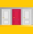 doors flat vector image vector image