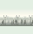 downtown street with people vector image