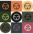 Driving wheel icons vector image