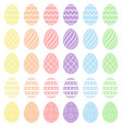 easter eggs collection easter eggs vector image