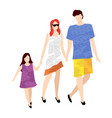 family leisure parents and kid summer vector image
