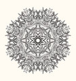 floral mandala decorative round ornament vector image vector image