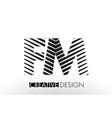 fm f m lines letter design with creative elegant vector image vector image