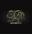 for happy new year 2019 its year of the pig vector image