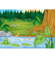 frogs in nature vector image vector image