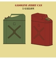 Gasoline jerry can vector image vector image