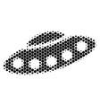halftone dot ufo icon vector image