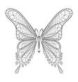 hand drawn entangle tribal butterfly pattern vector image