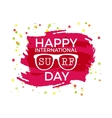 Happy International Surfing day label graphic vector image vector image